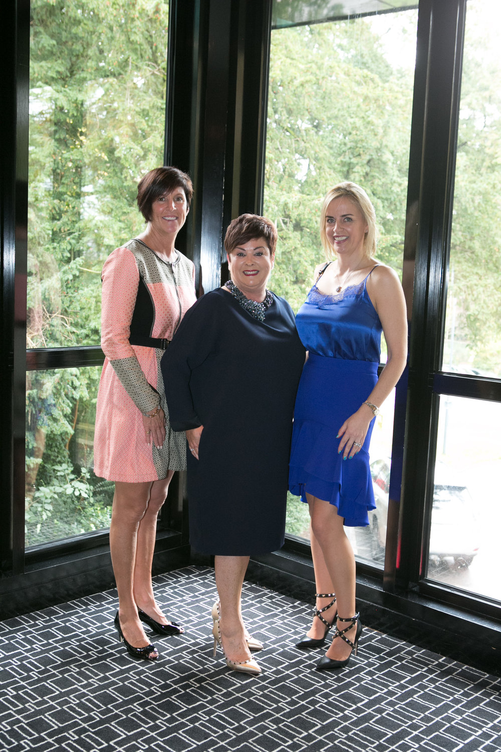 Gillian O'Sullivan, Passage West, Niamh Horgan, Frankfield and Clare Clehane, Rochestown at the Annual Aer Lingus Autumn Lunch in aid of Cork ARC Cancer Support House.