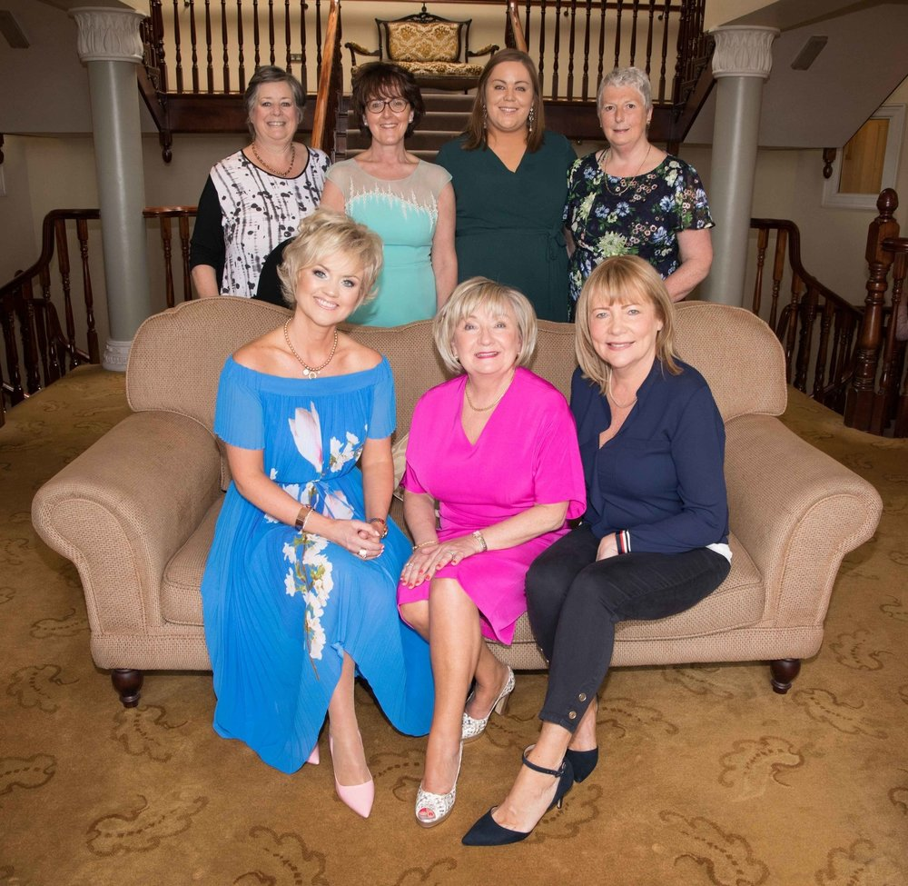 Dunnes Stores Annual Summer Lunch committee members (front l-r) Tanya Murphy, Letitia Clynch, Eithne Barry and (back l-r) Carol Cave are joined by Ellen Joyce, Rachel Hill and Sheila McCarthy of Cork ARC.