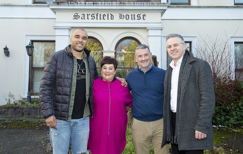 Pictured at Sarsfield House to launch the Cork ARC Spring Ball in association with Sunshine & Umbrellas were l-r: Cork ARC Patron Simon Zebo, Niamh Horgan of Sunshine & Umbrellas Charity Events, main sponsor, Tony Lehane of Floortech and Chris McCarthy of Sunshine & Umbrellas.