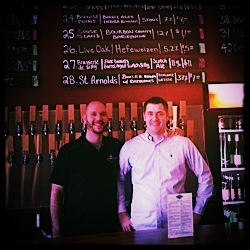 Owner, John Amato, with General Manager, Jason Daly.
