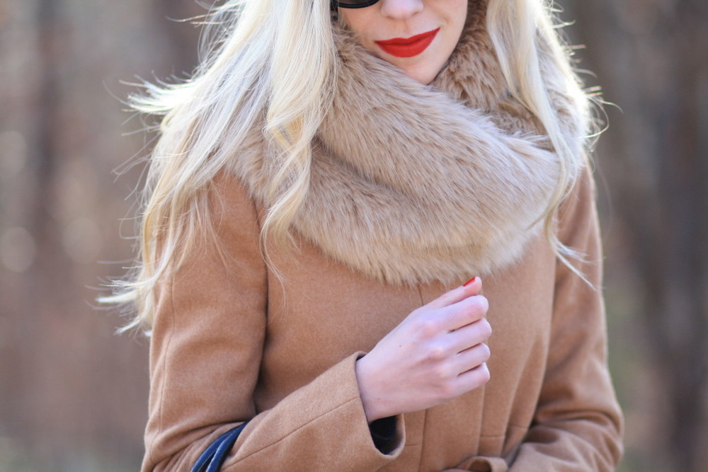 Stila-Beso-liquid-lipstick-bold-red-lip-camel-wool-wrap-coat-Zara-camel-faux-fur-snood-camel-faux-fur-scarf-1024x683.jpg