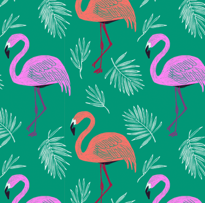 Flamingo Repeat Pattern