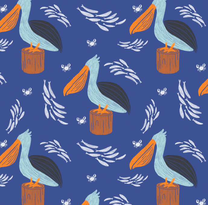 Pelican Repeat Pattern
