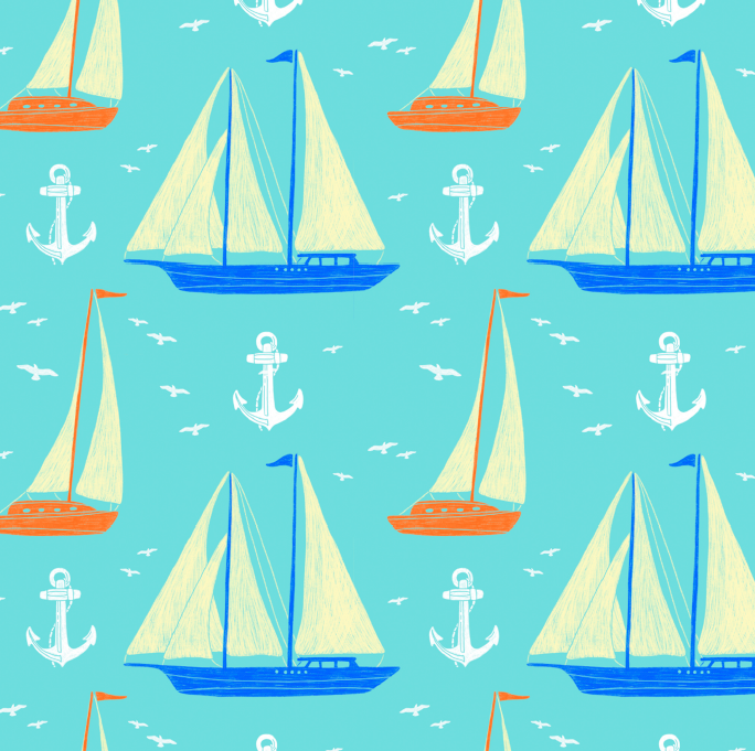 Sailboat Repeat Pattern