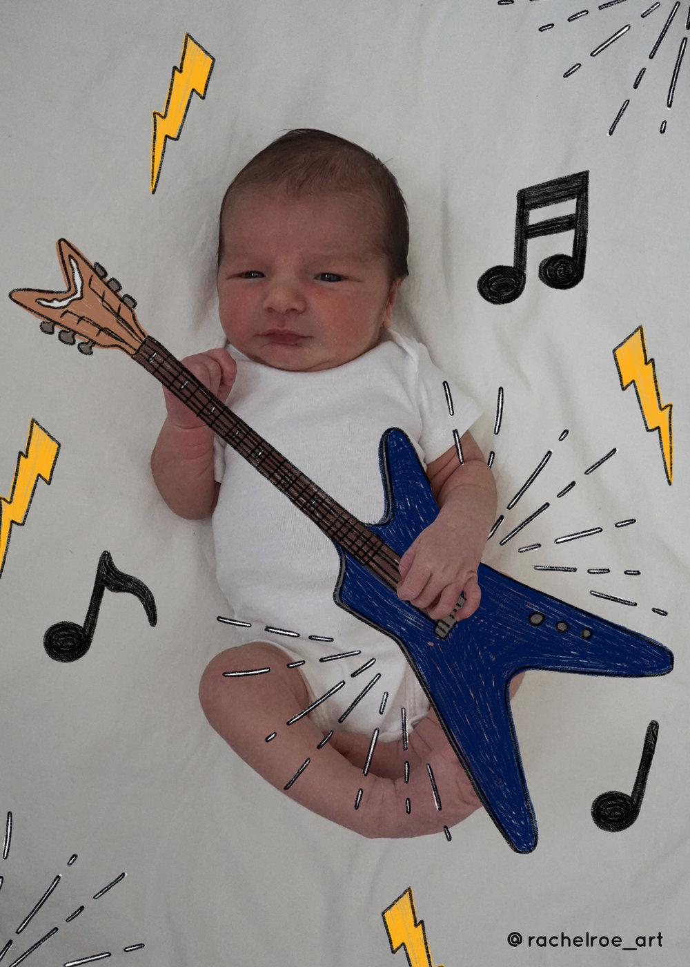 Baby Announcement Illustration_Guitar_Rachel Roe.jpg