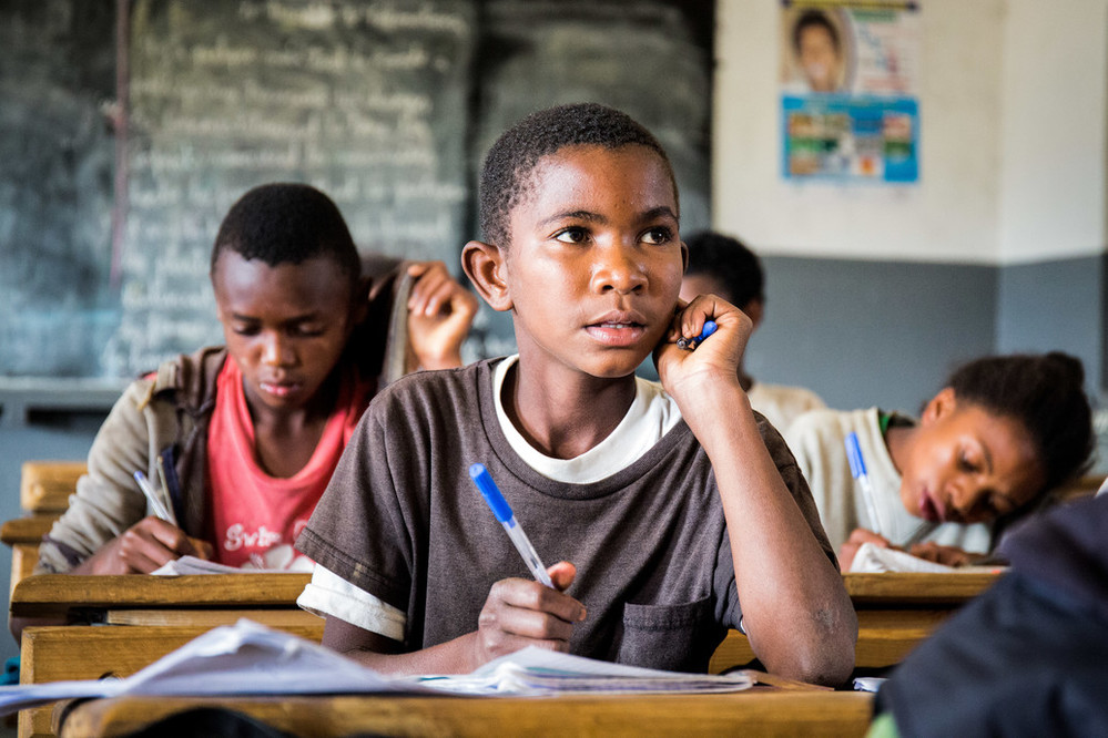 #WaterGives  13 year old Tahiana the ability to go to school. With access to clean water, he'll focus on his education which can break the cycle of poverty and provide the hope for a brighter future.