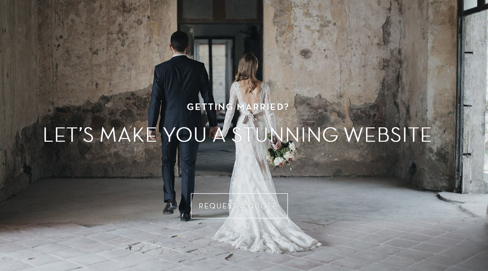 stunning wedding websites