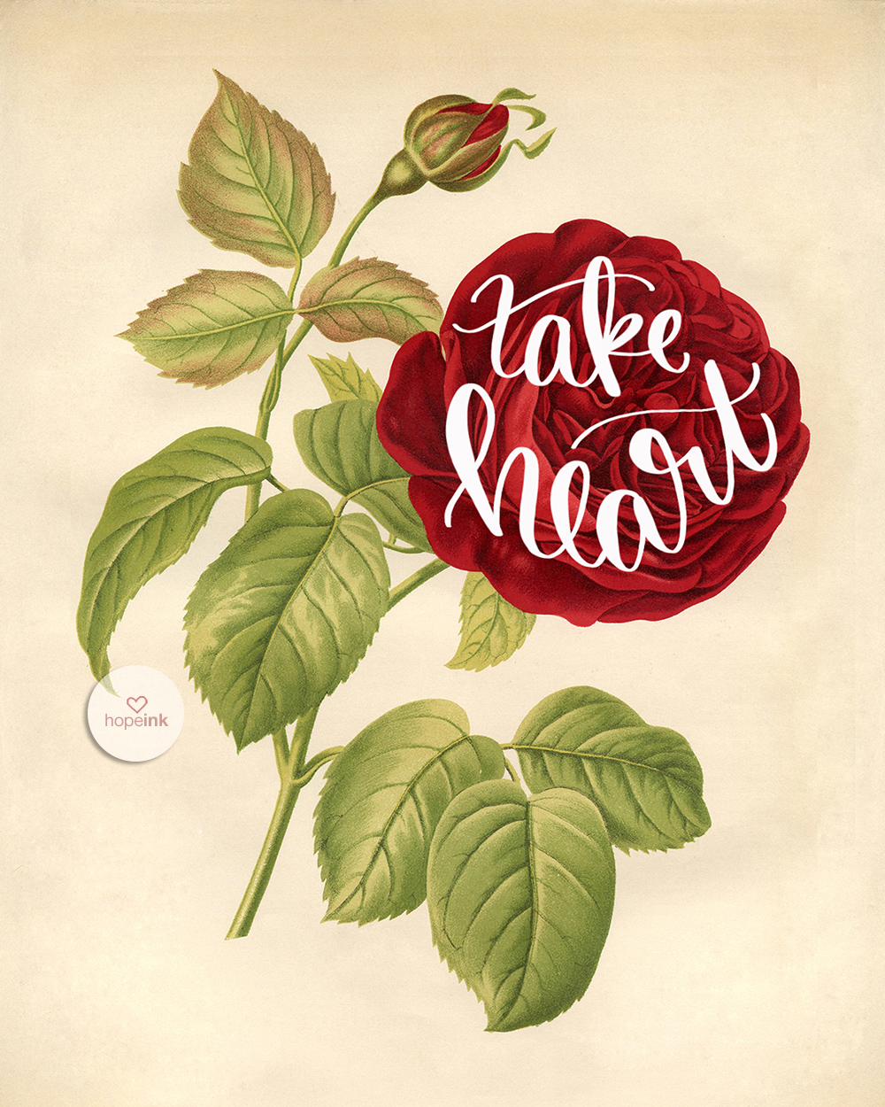 Take Heart | Hand Lettered Scripture Art | Hope Ink.jpg