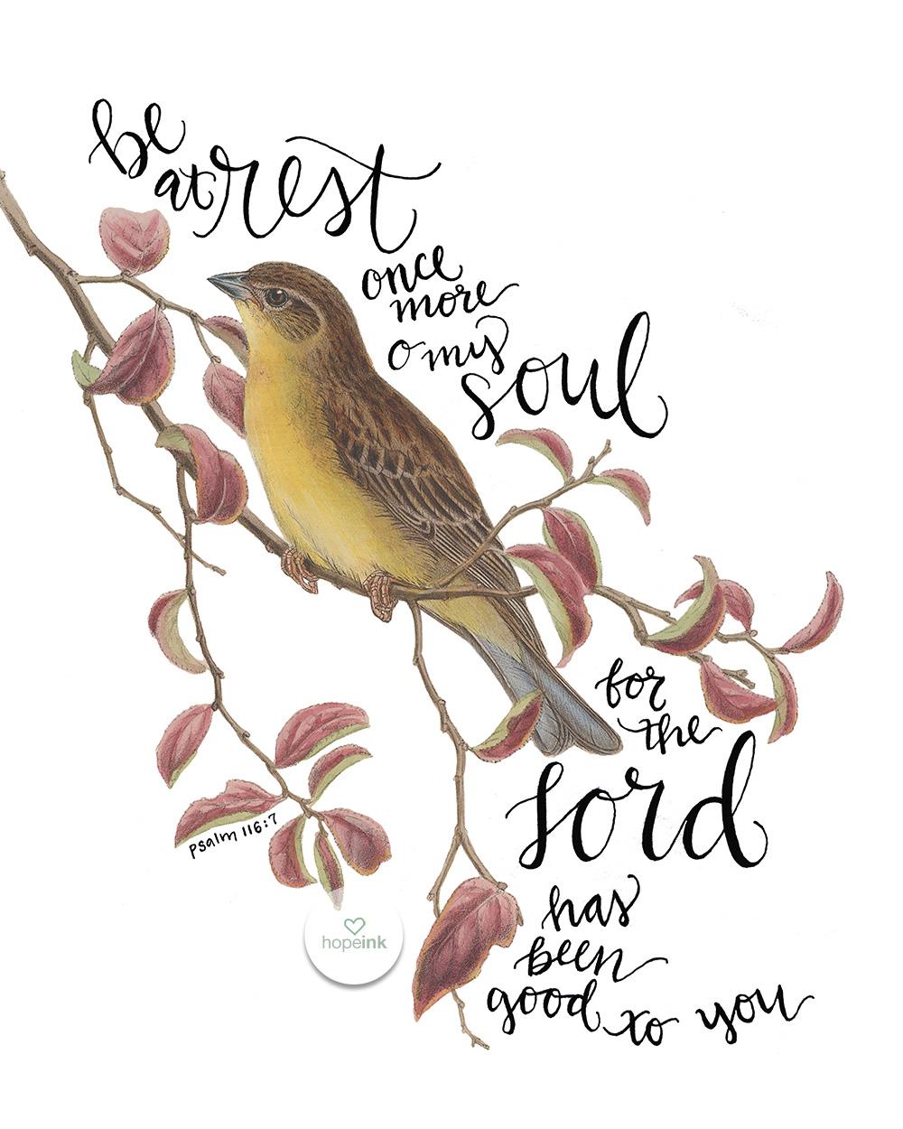 Hand Lettered Scripture Art | Vintage Bird | Hope Ink.jpg