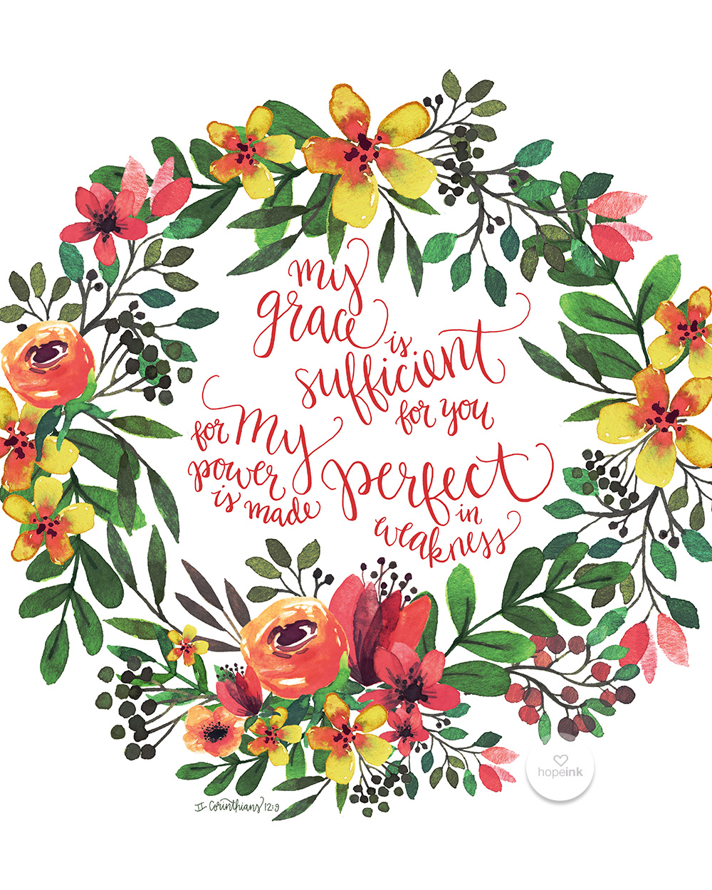 My Grace Is Sufficient Hand Lettered Scripture Art Hope Ink.jpg