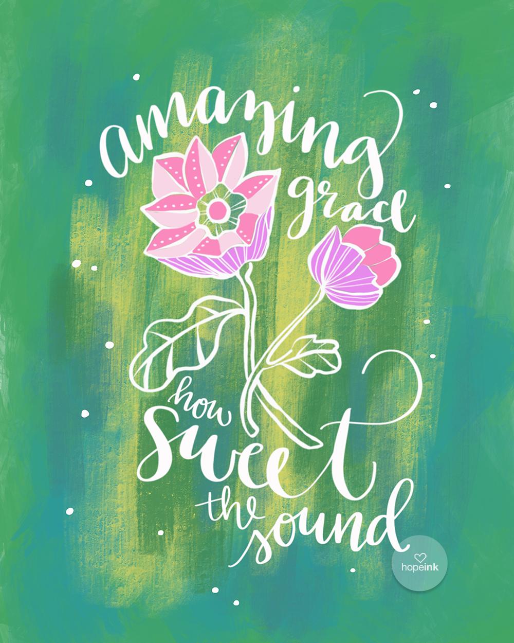Amazing Grace Hand Lettered Art | Hope Ink.jpg