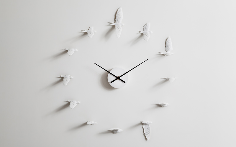 Swallow X CLOCk Resin  by Haoshi Design Studio/  www.haoshi.com / Taiwan movement / Handmade 600mm(W) × 120mm(D) × 600mm(H)