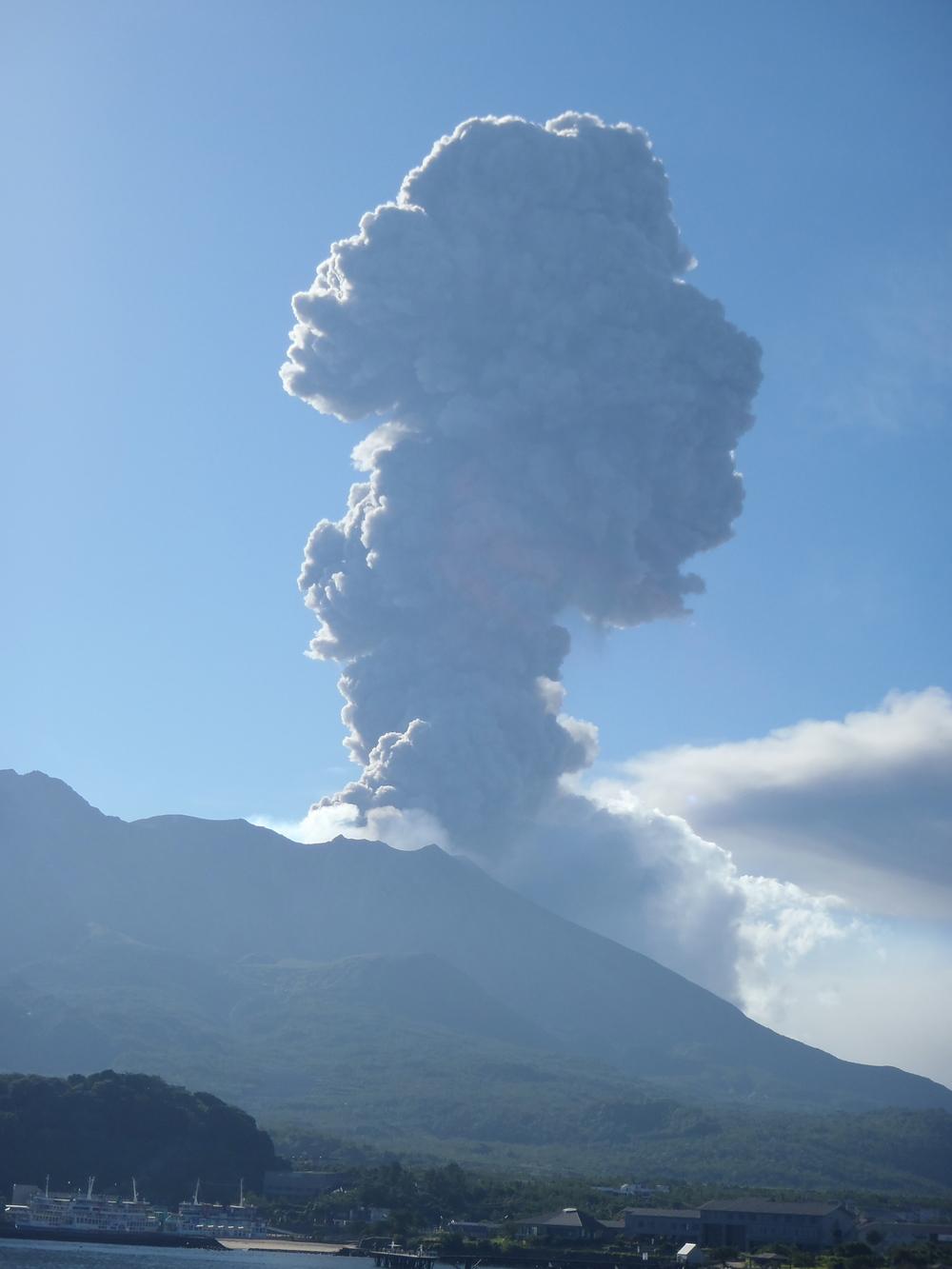 Sakurajima Volcano, Kyushu, Japan