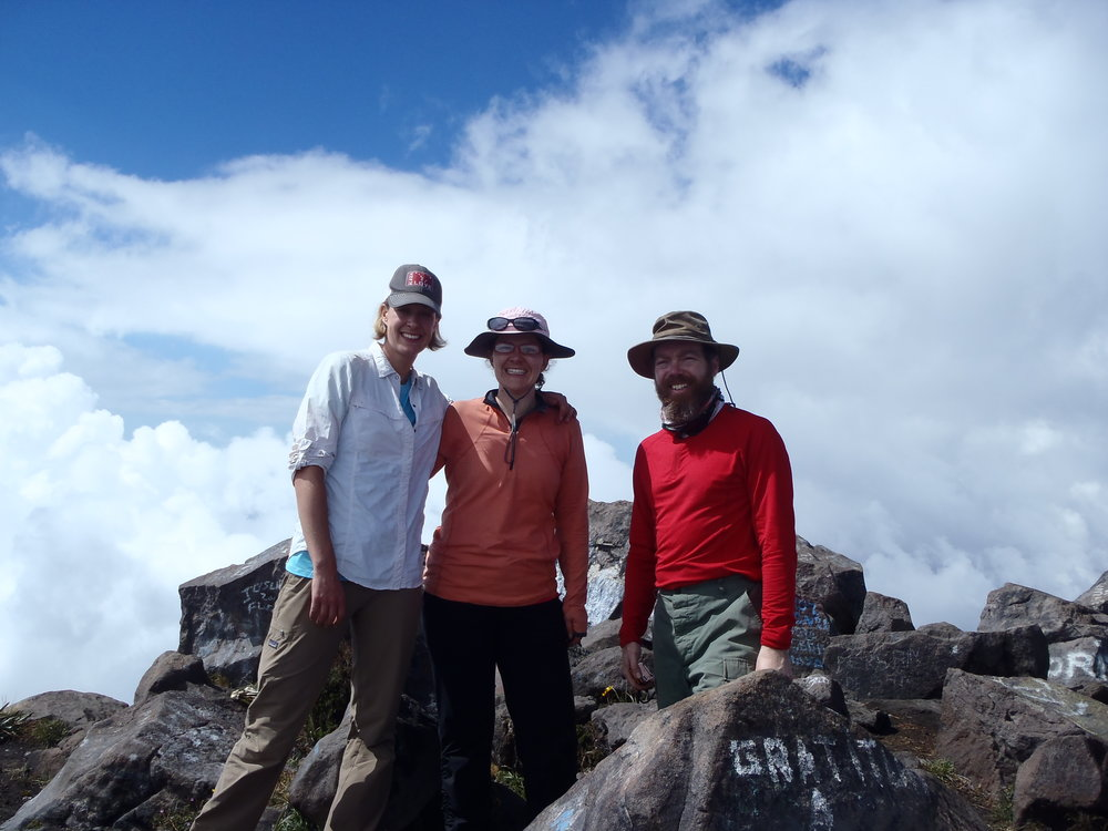 Summit of Santa Maria Volcano, Guatemala - Workshops on Volcanoes 2016, Santiaguito Volcano