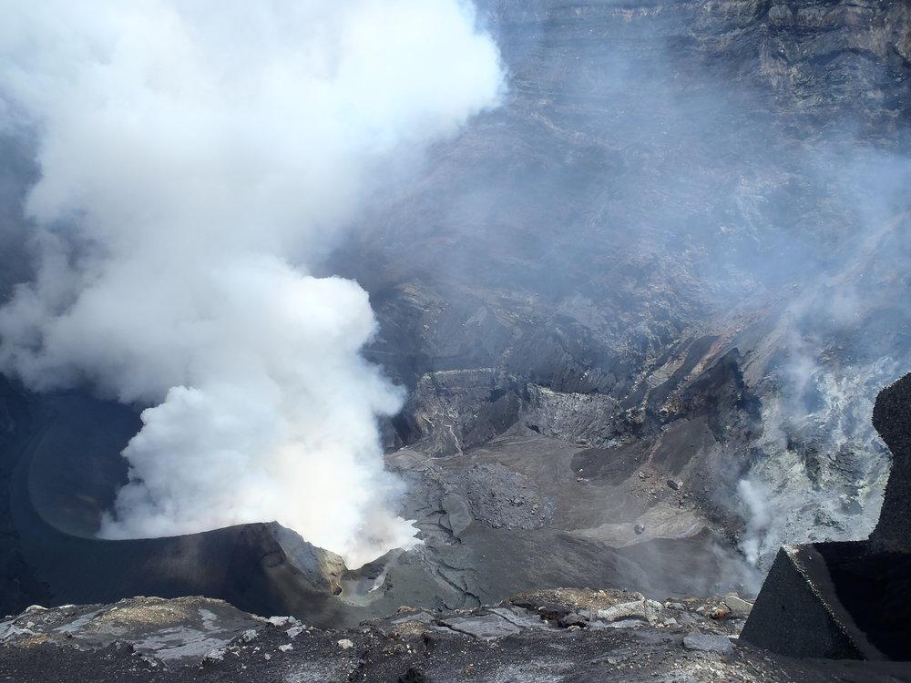 Naka-dake crater, Aso Volcano, Japan - NSF EAPSI Fumarole Acoustics Project - Summer 2015