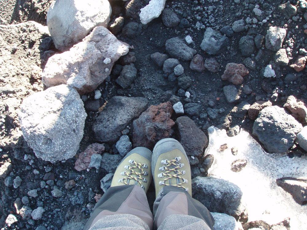 Walking on Villarrica Volcano, Chile - MTU seismo-acoustic field campaign - March 2011