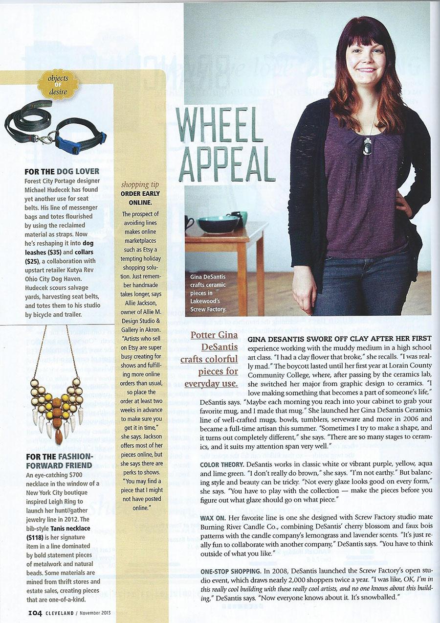 Cleveland Magazine.November 2013. -