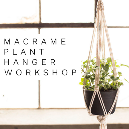 Learn the art of making your own macrame plant hanger - No experience necessary!