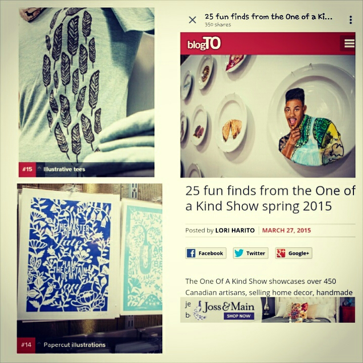 blogto featured one of my arts & i was #14