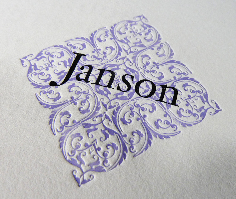 Janson Display Type