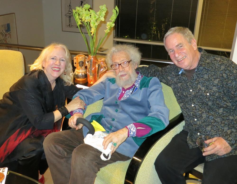 Anne LeBaron, Gerd Stern, and Ed Rosenfeld