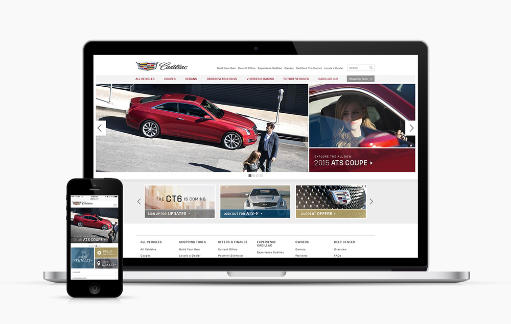 Cadillac Website Reskin — Jessica Bush