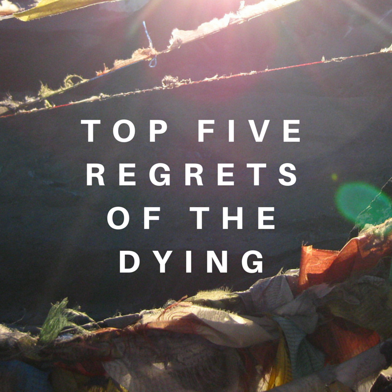 5 regrets of life Bronnie ware shares five regrets of the dying, from her experience working with the dying.