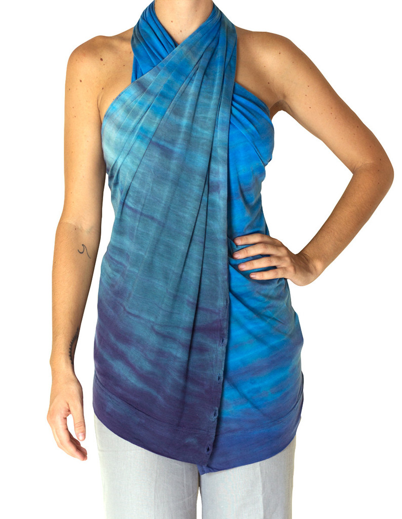 Blue Multi Way Scarf - The Journey Shawl