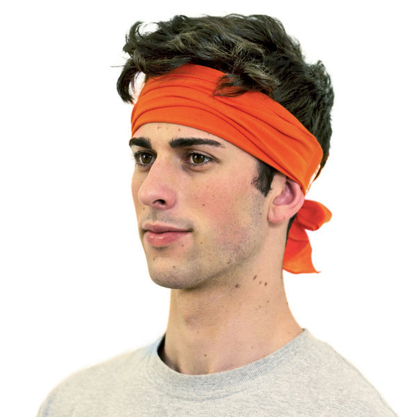 Orange bandana for men