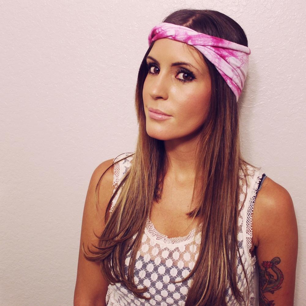 Pink head wrap