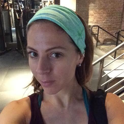 Green Head Wrap for Yoga