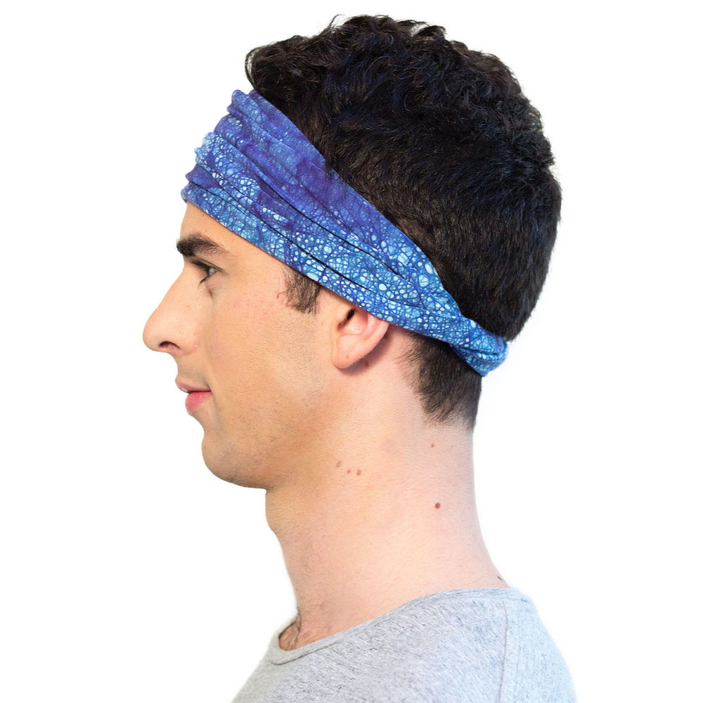 Navy Blue ENSO Batik Headband for Men