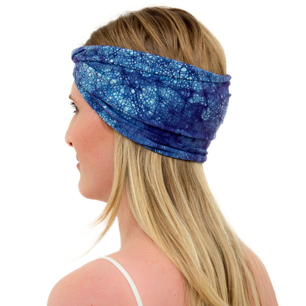 blue headband for women: ENSO Batik Crown Blue by KOOSHOO