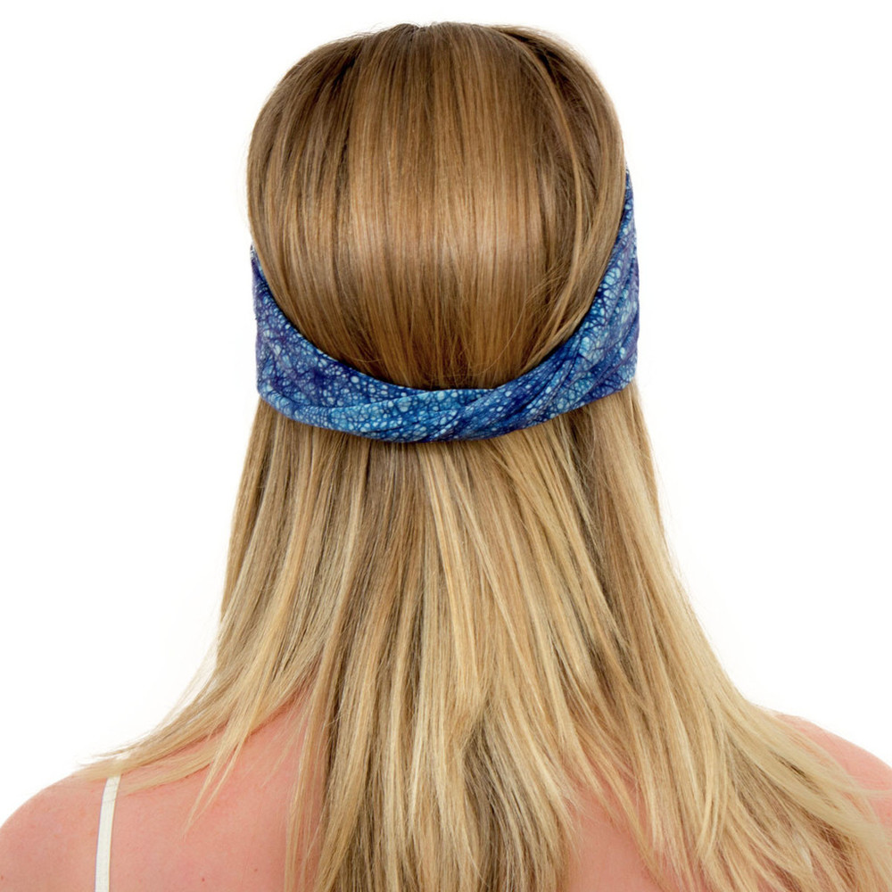 Navy Blue Turban - ENSO Batik Headband by KOOSHOO