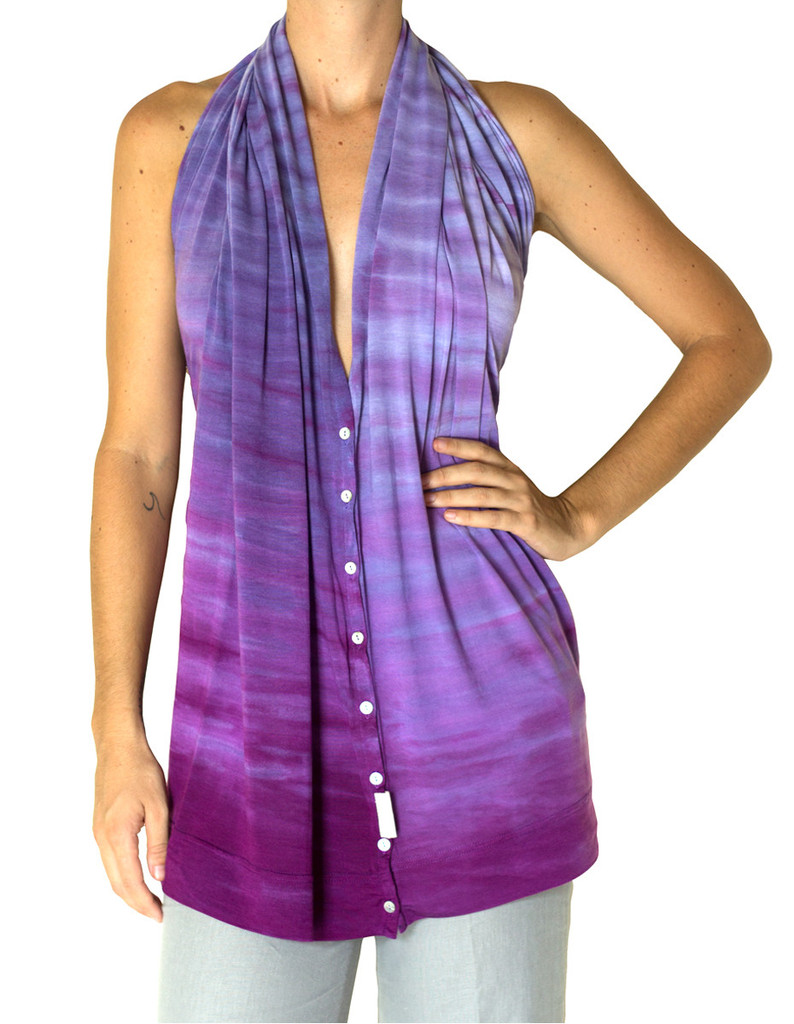 Purple travel scarf