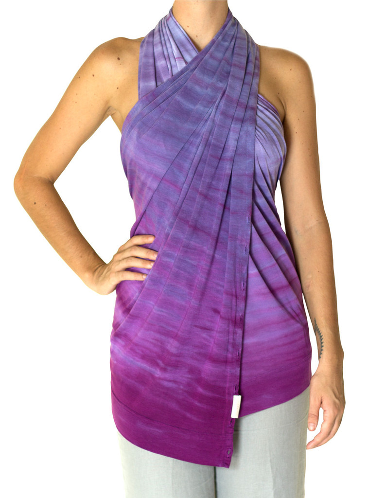 purple halter top scarf