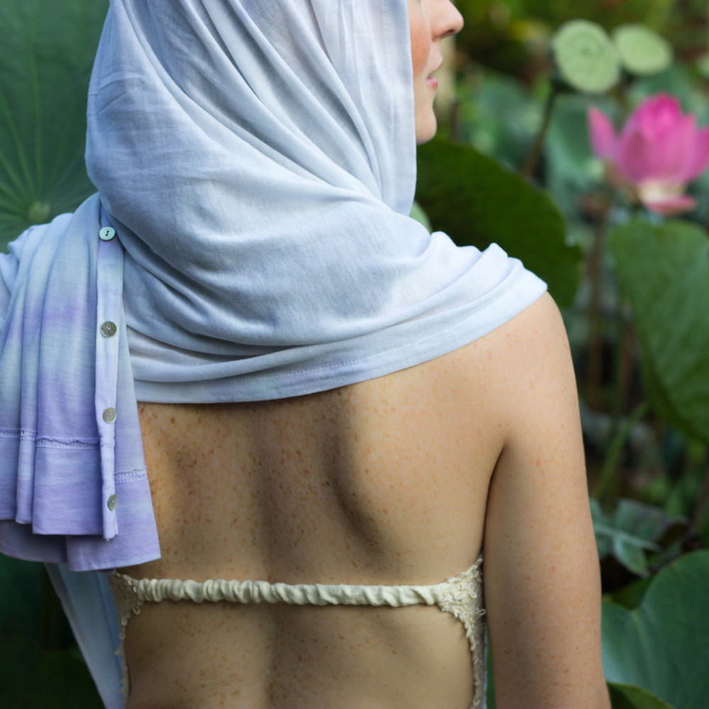 white head covering for kundalini yoga