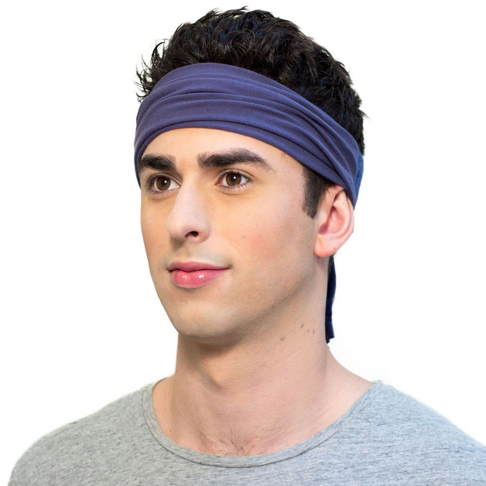 Navy blue headbands for men