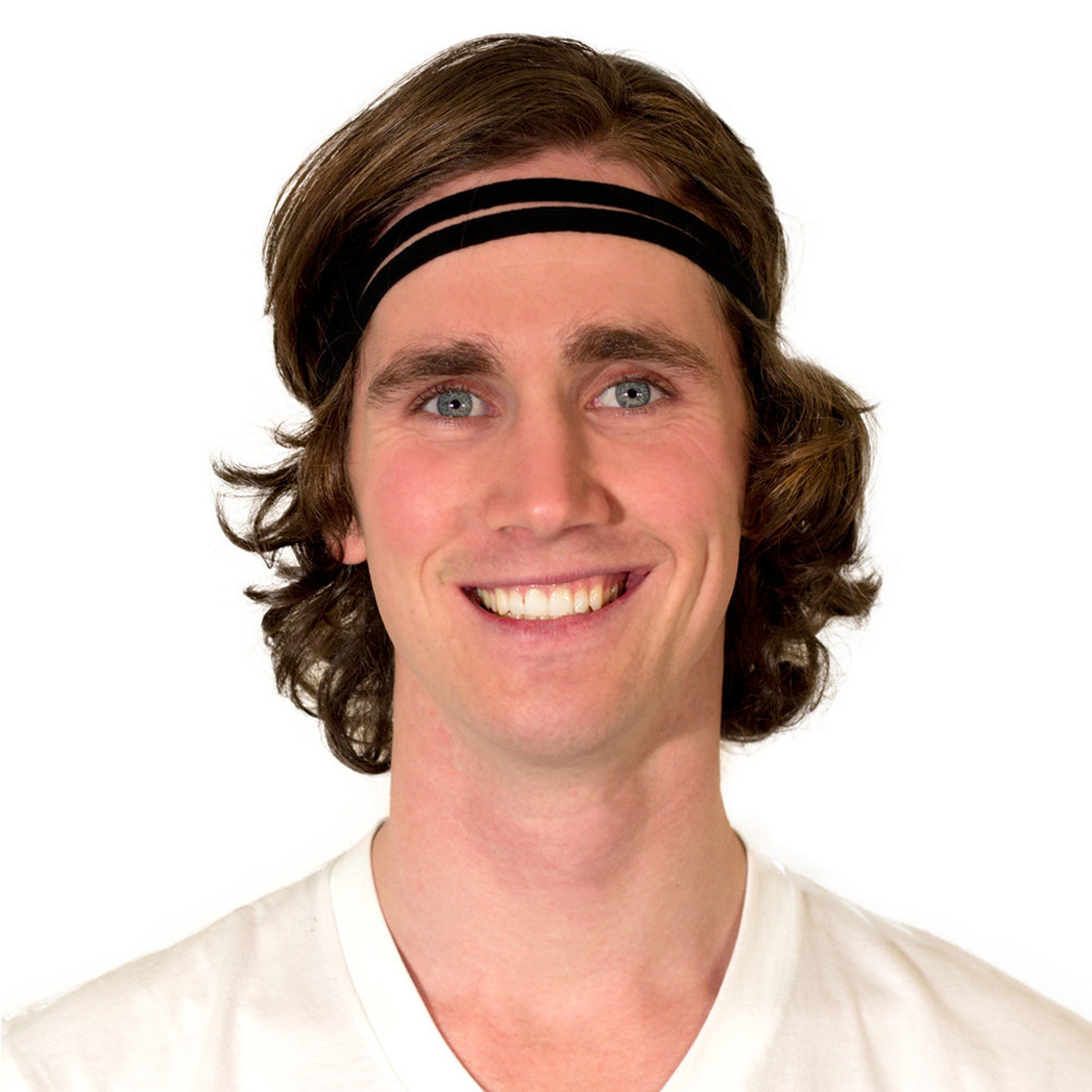 mens long hair headband