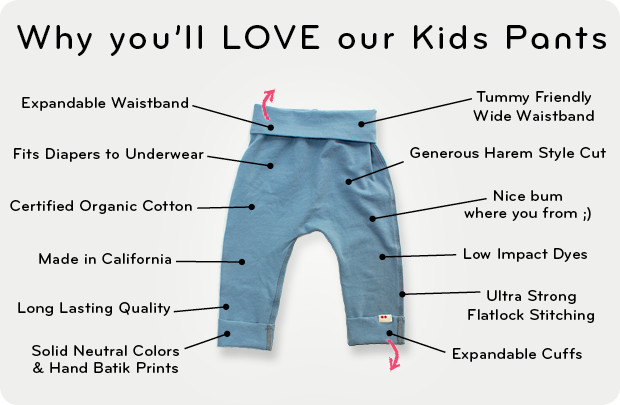 best baby pants, organic cotton pants by KOOSHOO