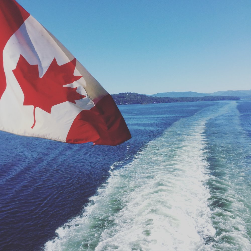 First up, a ferry ride heading away from canada!
