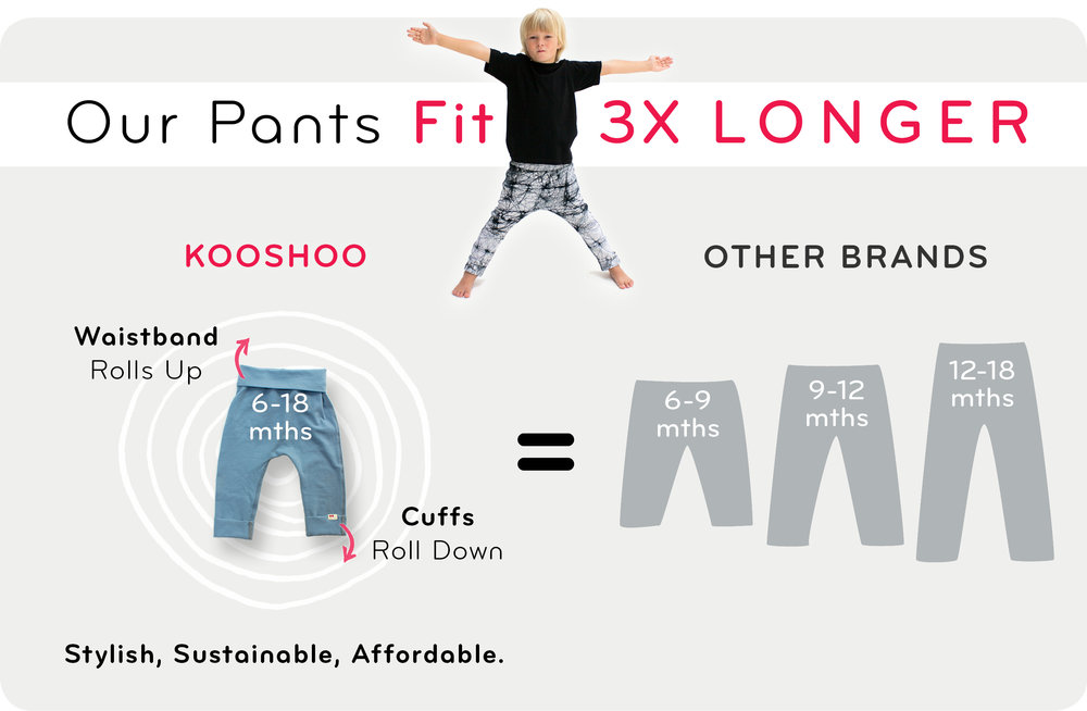 kids pants with wide waistbands