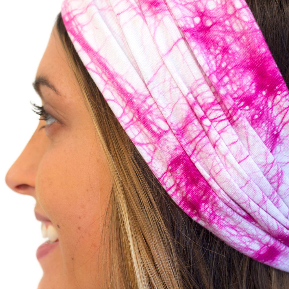 organic pink headwrap