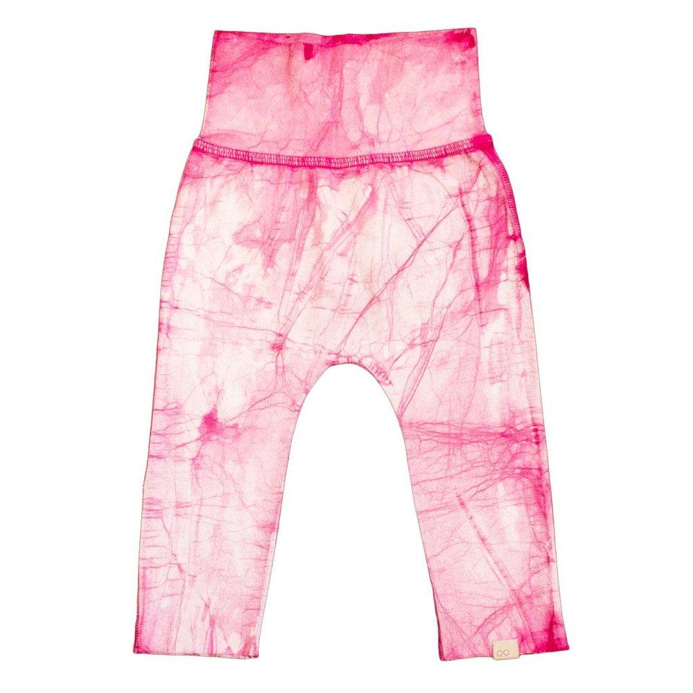 cool organic pink baby pants
