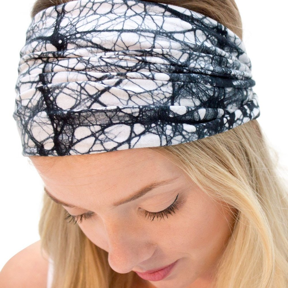 fashionable black headbands for women