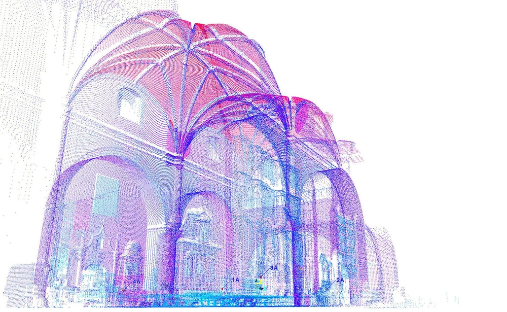 Point-cloud of Coixtlahuaca's church
