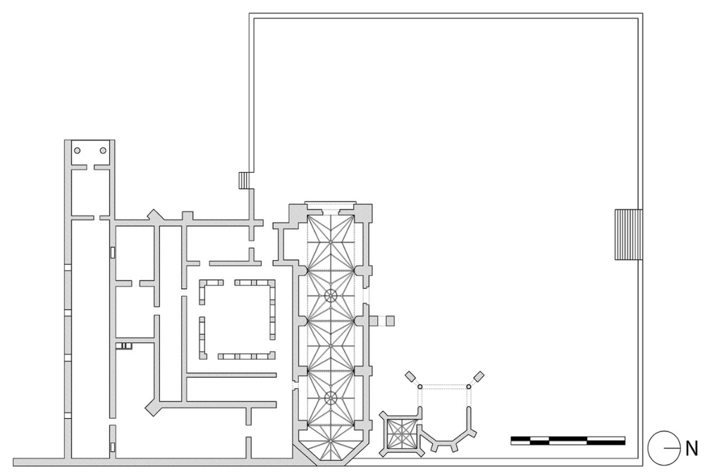 Plan of the monastic complex of Coixtlahuaca