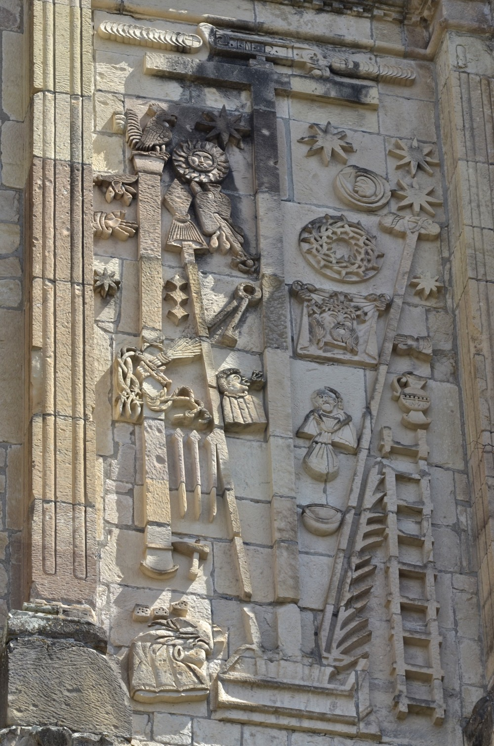 North facade decoration at San Juan Bautista Coixtlahuaca