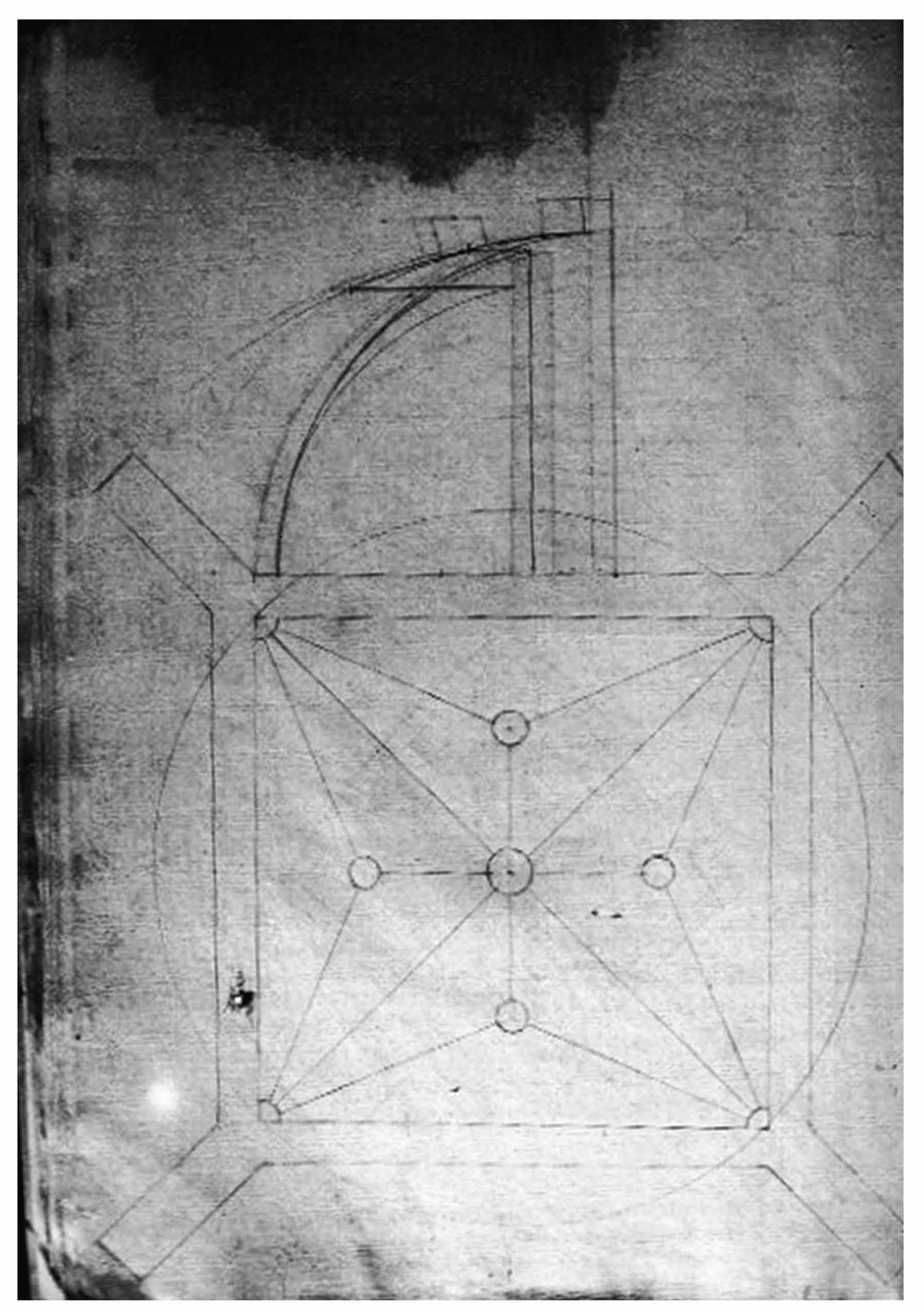 Drawing to design a ribbed vault. Hernan Ruiz 1560