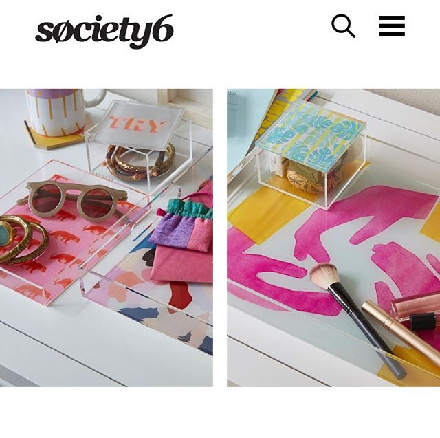 ***NEW*** on @society6, Acrylic Trays & Boxes! Perfect for storing your jewelry or display some awesome home decor accents!  Check out some of my designs but following the link in bio!